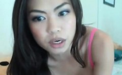 Busty Asian Babe Fingering her Shaved Pussy