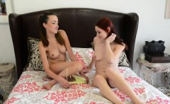 Victoria Rae Black has a little fun with Violet Monroe