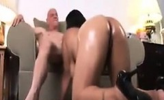 Fat Ebony Girl Being Fucked By An Old Guy
