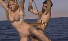 Blonde Babes In A Threesome On A Boat
