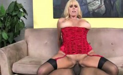 Huge black dick by a cockstarving MILF with massive boobs