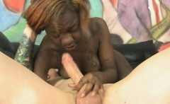 Black Ghetto Slut Face Fucked Until She Gags And Sputters