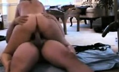 Nice butt MILF fucks mounted dildo and rides cock