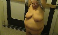 Fat Mature Woman Strips And Teases Her Body
