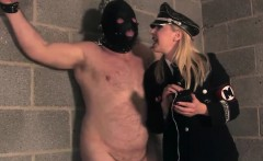 English mistress punishes sub with electrosex