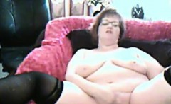 Horny Grandmother Masturbates