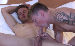 Muscled marines ass licked