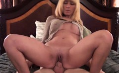 Blonde milf riding a dick