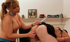 Kinky Alex penetrated by a big titty femdom