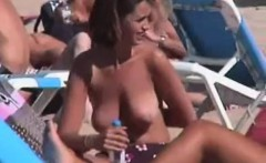 Nude about the beach women like to display their breasts