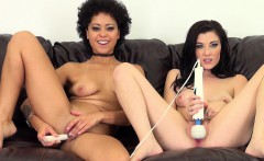 Bi babes Mia and Jenna toy each other then go solo for the camera