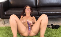 Luscious redhead milf with big hooters Syren De Mer pleases herself