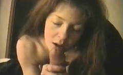 Catholic spouse with excellent breasts teasing his penis