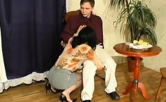 Ditched by her day the waitress is fucked by her