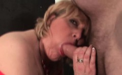 Slutty mature eating large dick with lust