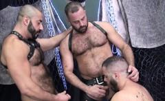 Strong bears dicksucking and dildo analplay