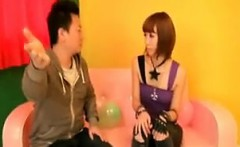 Beautiful Japanese girl reveals her sublime ass and her blo