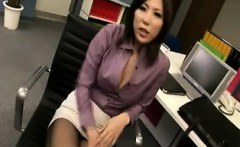 Sexy secretary is seduced by her boss and gets her hole plu