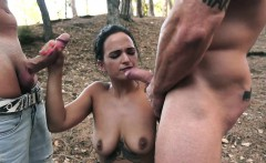 OyeLoca- Spanish Teen Fucked By Two Huge Cocks In Public