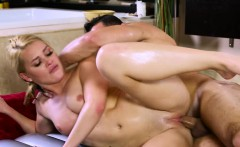 Blonde and round ass Abby Cross gets fucked hard by Damon