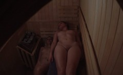 VOYEUR Two Tight Pussies in Sauna