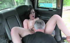 Sexy passenger railed by fraud driver in the backseat