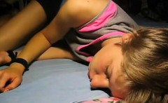 Resting teenager gets wakeupcall with facial