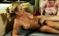 Jizzy mouth masseuse fuck