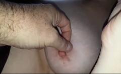 Wifes big tits, ripe nipples hairy pits