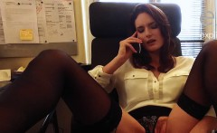 Busty french babe marie horny at office