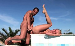 Faith loves exercising naked in the outdoor and when that