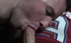 Masculine jock cocksucked then bangs ass