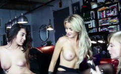 Kinky lesbian threesome featuring smoking hot starlets