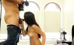 Fake casting fuck for money with this hot brunette teen