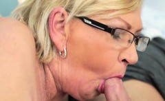Horny young guy seduces and drills one busty hot grandma