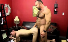 Huge muscular hairy daddy Brad Kalvo tries Benjamins asshole