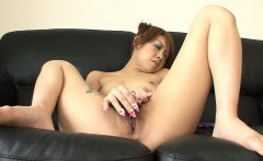 Nozomi Uehara loves to play with her pussy but for her