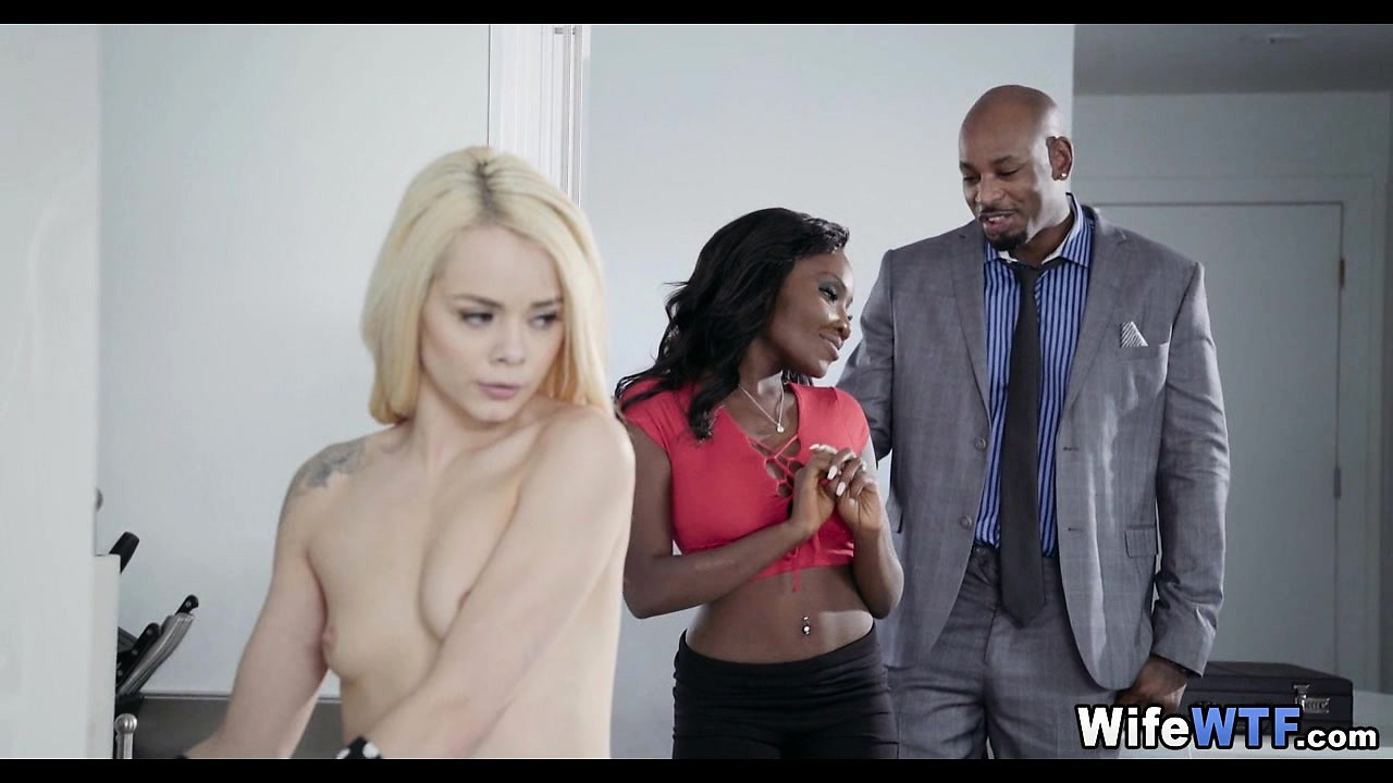 Blonde maid gets fucked by black couple Horny Black Couple Has White Maid Nuvid
