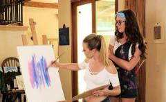 Aubrey Sinclair , Elena Koshka in Painting Her Pussy