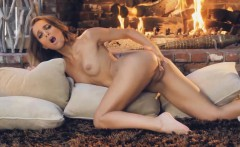 She Strips Off Her Lingerie and Fingers Her Trimmed Pussy