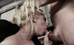 Bigtitted skank submitted into throating cock