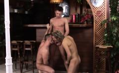 Unsaddled european amateurs bareback in trio