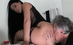 Chick gets her boots licked by slave in horny femdom act