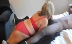 Blonde Slut Slammed By Big Black Cock