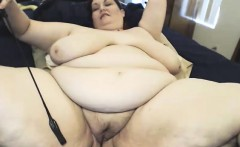 Perfect fat bosoms masturbate on cam