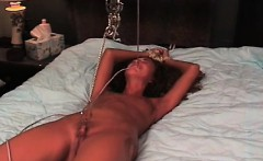 Naughty video with girl enduring twat stimulation