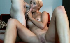 Tender small tittie blonde Loly gives sensual blowjob