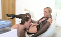 Sexy casting agent fucked on interview