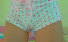 Solo Latina masturbating in panties