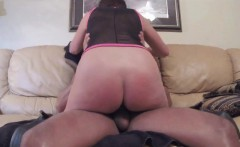 My cougar wife 44 riding BBC of a black stud